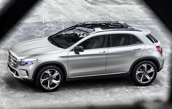 Picture Concept, Mercedes-Benz, silver, car, Mercedes, GLA