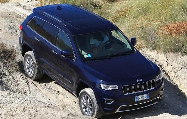 Picture blue, jeep, SUV, suv, Jeep, Grand Cherokee, Overland