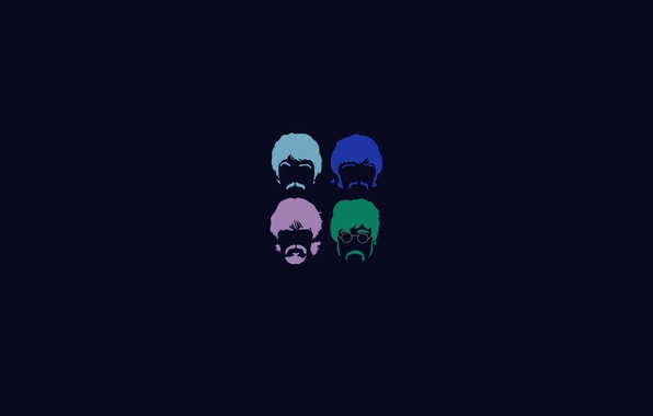 Picture background, minimalism, group, four, The Beatles, the Beatles, four, the Beatles