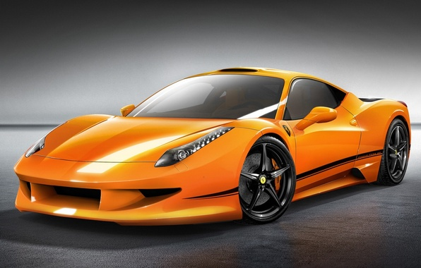 Picture car, machine, auto, orange, Ferrari, Ferrari, supercar, supercar, 458, orange, avto, Italia