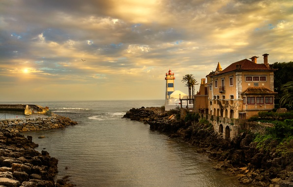 Picture sunset, the evening, Portugal, Cascais