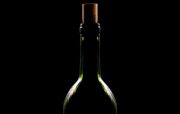 Picture wine, bottle, minimalism, drink