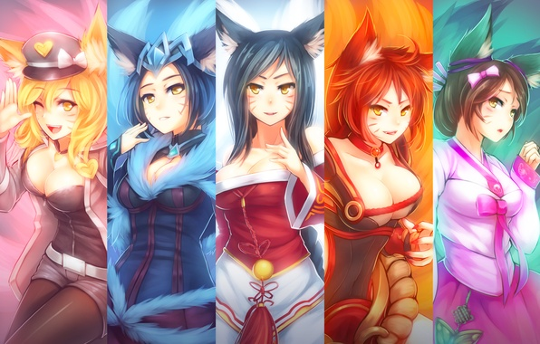 Picture lol, Fox, League of Legends, Ahri, Nine-Tailed Fox