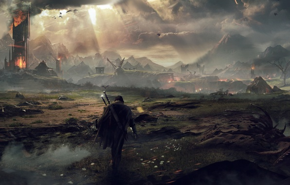 Picture warrior, Ghost, The Lord Of The Rings, The Lord of the Rings, Mordor, Ranger, Talion, …