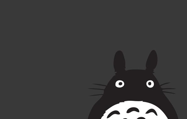 Picture minimalism, anime, my neighbor Totoro, strange creature)