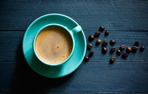 Picture foam, table, coffee, mug, saucer, grain