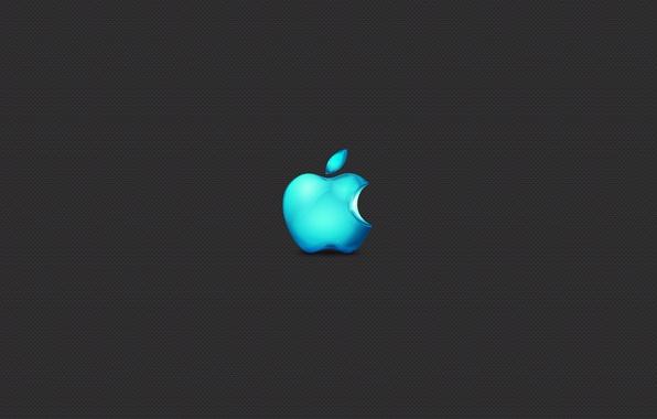 Picture Apple, Minimalism, Apple, Grey, Brand