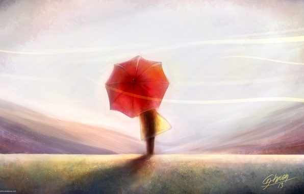 Photo Wallpaper The Sky Wind Back People Art Painting