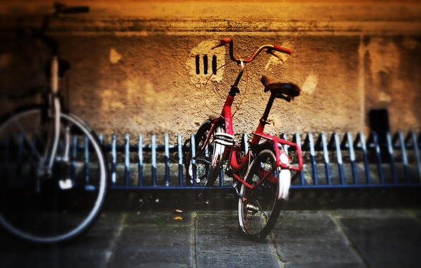 Picture bike, the city, Parking