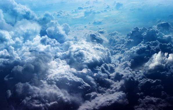 Picture the sky, clouds, blue, heaven, color