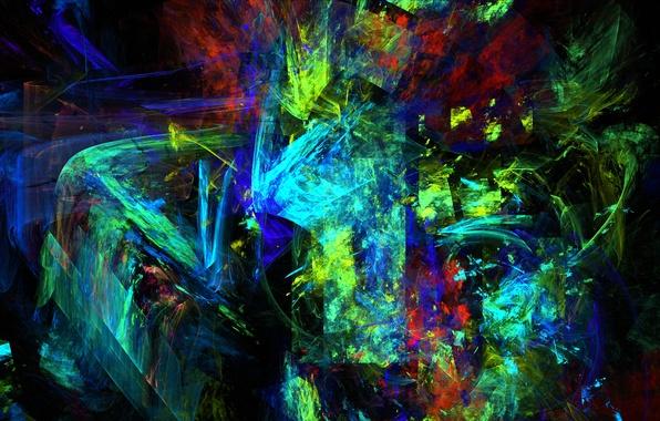 Picture light, line, pattern, color, chaos