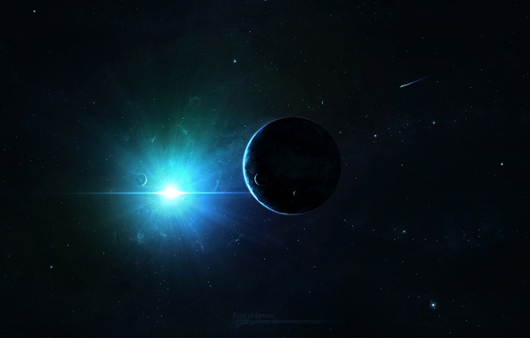 Picture space, stars, light, planet, space, universe, stars, planets