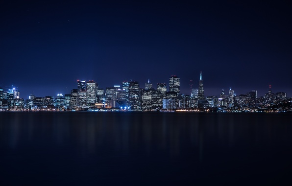 Picture City, Skyline, Island, Bay, Architecture, San-Francisco, Ligth, Nigth, Treasure