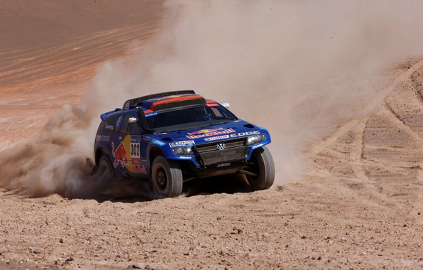 Picture Blue, Sport, Volkswagen, The hood, Jeep, Red Bull, Touareg, Rally, Dakar, The front, Competition