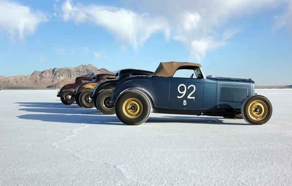 Picture vintage, desert, race, usa, utah, bonneville salt flats
