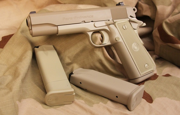 Photo wallpaper .45 ACP, extra boots, .45, weapon, 1O shots, charger with capacity of 10 munitions, Para ...