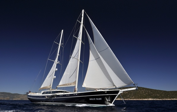 Picture sea, the way, yacht, sail, luxury motor yacht