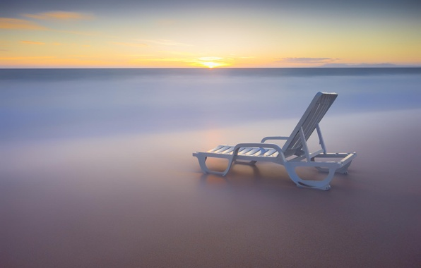 Wallpaper morning water the ocean chaise beach for Chaise game free download