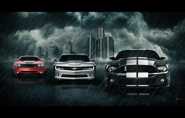 Picture ford, chevrolet, dodge, car's