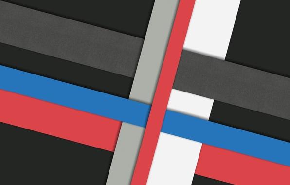Wallpaper White Line Blue Red Grey Black Design Color