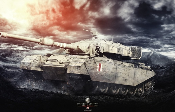 Picture Game, Art, World of Tanks, Centurion Mk. 7/1, Wargaming, FuriousGFX