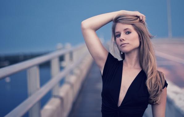 Picture girl, bridge, face, photographer, girl, photography, photographer, Brian Storey