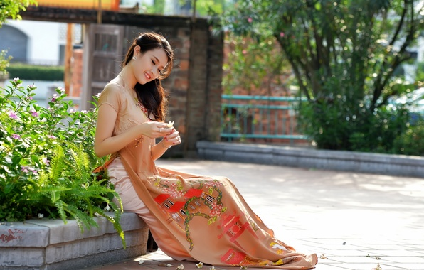 Picture summer, girl, style, street, Asian