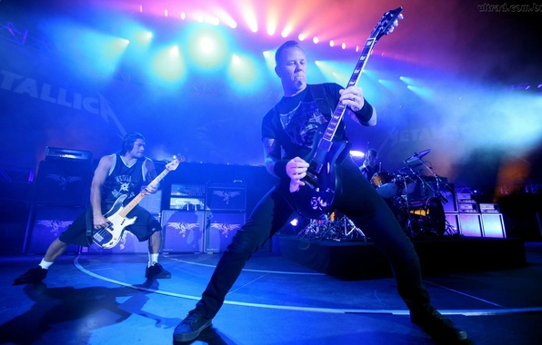 Picture guitar, concert, metal, rock, metal, rock, Metallica, James Hetfield, Robert Trujillo, James Hetfield, Metalika