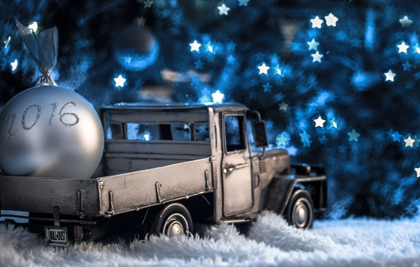 Picture lights, model, toy, new year, ball, truck, christmas, new year, garland, machine, pickup, photo, photographer, …