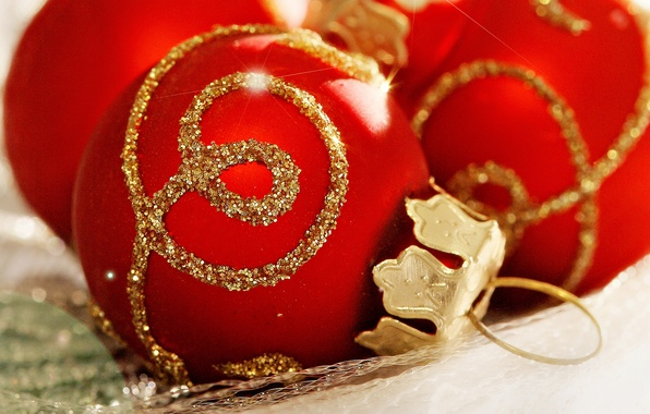 Picture balls, holiday, balls, pattern, new year, Christmas, red, gold, christmas, new year, Christmas decorations