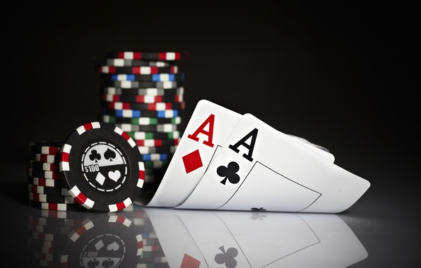 Picture card, chips, poker, aces, poker