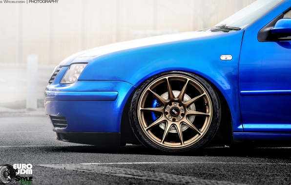 Picture Volkswagen, Jetta, Car, drives, Blue, Wheels, Bora, rim, Eric Wroblewski, JDM Style, XXR