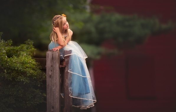 Picture mood, dress, girl, bokeh