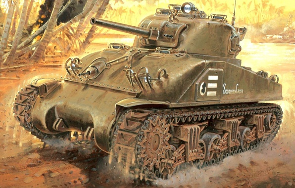 Picture figure, USA, Tank, The Second World War, Sherman