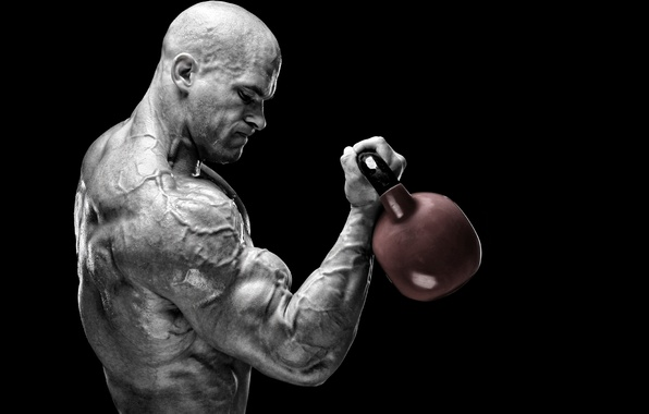 Picture power, muscles, training, bodybuilder, peeled, Russian barbell, muscular strength