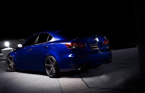 Picture night, blue, shadow, Lexus, blue, Lexus, the rear part