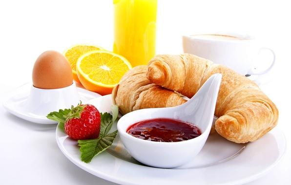 Picture orange, coffee, food, Breakfast, strawberry, juice, Cup, juice, food, cup, orange, strawberry, coffee, croissants, breakfast, …