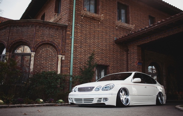 Picture Lexus, Machine, Tuning, White, Lexus, Car, White, Tuning, Automobiles, Stance, GS300, ГС300