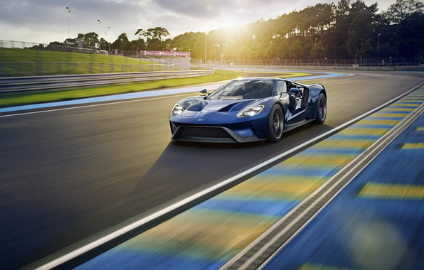 Picture the sun, light, track, Ford, supercar, car, Ford