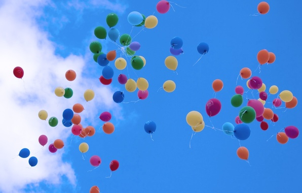 Picture The SKY, FLIGHT.COLORFUL, AIR, BALLS