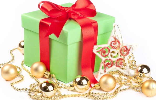 Picture holiday, toys, gifts, bow, New Year, box, packaging, Christmas