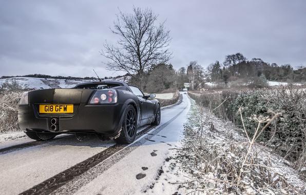 Picture road, machine, snow