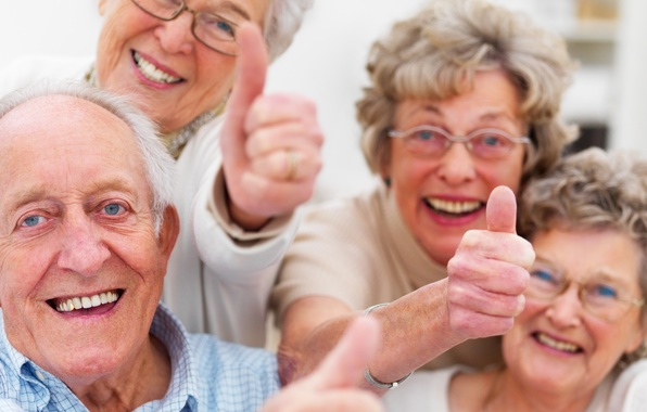 Picture smile, happiness, group, older people
