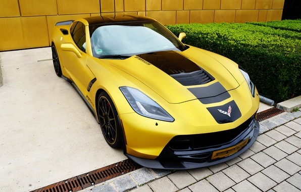 Picture yellow, tuning, Corvette, Chevrolet, Stingray
