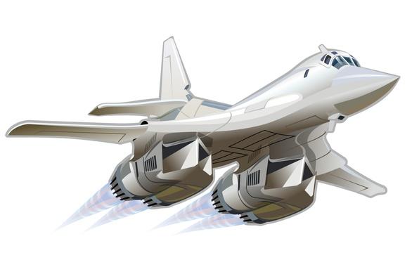 Picture the plane, art, wallpaper, BBC, missile, The Tu-160, white Swan, Russia., developer, Tupolev, Videoconferencing, creative …