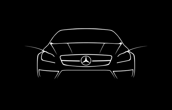 Picture white, amg, draw, cls, mercdedes, mercedes cls 63 amg