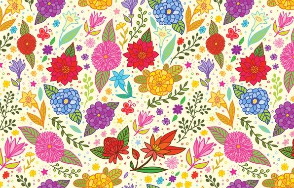 Picture flowers, texture, art, art, pattern