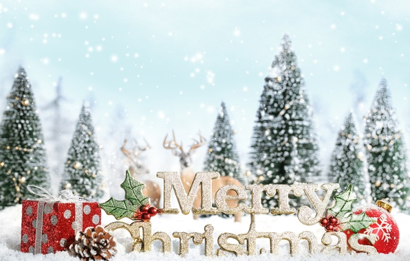 Picture snow, snowflakes, background, holiday, Wallpaper, tree, new year, Christmas, spruce, blur, gifts, wallpaper, bump, bumps, …