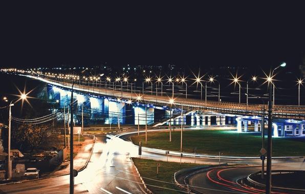 Picture bridge, river, Oka, Vladimir Smith, Vladimir Smith, Kaluga, Kaluga