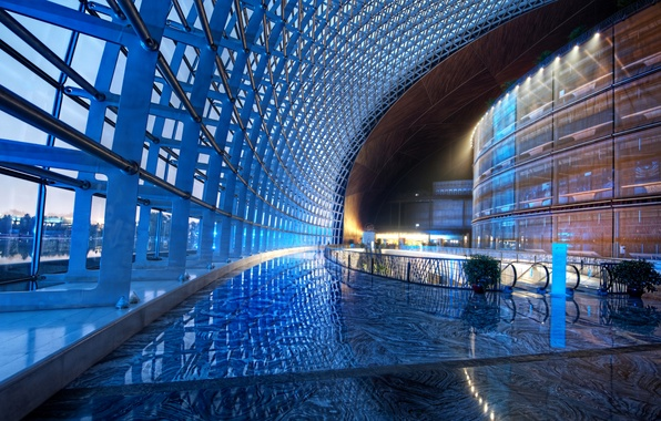 Picture window, hall, the dome, escalator
